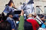 بالصور:التجمع الوطني المسيحي ينظم تظاهرة حاشدة ضد الاضطهاد الديني بحق الفلسطينيين