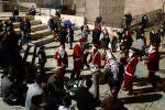 بالصور :  التجمع الوطني المسيحي يحيي عيد الميلاد في شوارع القدس