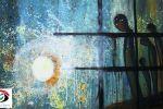 لوحة 'شذرات أمل' للفنانة فجر إدريس ... بقلم: زياد جيوسي