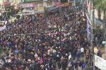 الآلاف يتظاهرون ضد قانون الضمان وسط رام الله