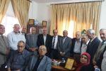 الهيئة الوطنية للمتقاعدين العسكريين تستقبل الافرنجي رئيس جمعية المتقاعدين المدنيين بغزة