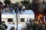 مستوطنون يضرمون النار في منزل قيد الإنشاء جنوب نابلس