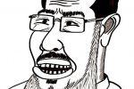 بورتري كرتون للرئيس محمد مرسي /بريشة اسامة نزال
