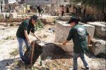 حملة تطوعية لصيانة كنيسة العائلة المقدسة في مدينة البيرة