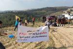 صلاة جمعة وزراعة أشجار على الأراضي المصادرة في بيت إكسا بالقدس