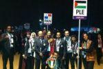 فرح برام الله مع رفع العلم الفلسطيني في افتتاح اولمبياد لندن