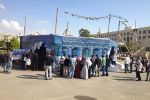 طلبة فلسطين بمصر يقيمون معرضاً فنياً تضامنياً مع قطاع غزة