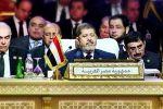 الرئيس اليمني ووزير الخارجية المصري ينامون خلال كلمة مرسي