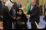 مديحة يسري على كرسي متحرك بعزاء الملك عبدالله