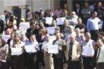 موظفو وزارة التربية ومديرياتها يعتصمون أمام مجلس الوزراء
