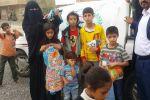اليمن ...مؤسسة يمن الاخاء توزع كسوة العيد ...