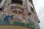 افتتاح جدارية  مميزة من الفسيفساء والكراميكا الملونة الجميلة تحت عنوان جدارية ' باقة دار السلام 'في مدينة باقة الغربية