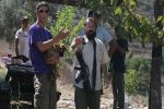 مستوطنون يحرقون مركبة في مخيم الجلزون ويخطون شعارات معادية على الجدران