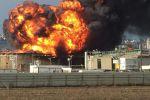 حريق كبير في مصافي النفط بمدينة حيفا