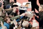 اللاجئون يخطفون الأضواء في المؤتمر الصحافي لجورج كلوني