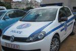استعادة سيارة شرطة بعد سرقتها بالبيرة