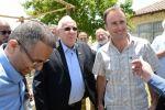 الرئيس الاسرائيلي يزور مستوطنات شرق رام الله