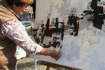 الفنانةالتشكيلية الفلسطينية ....( لطيفة يوسف )..في
