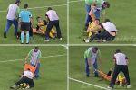 فيديو طريف.. لاعب كرة يوناني يسقط مرتين أثناء حمله على النقاله