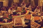 فيديو: بذخ عائلة سعودية تفطر في رمضان على طاولة متحركة