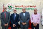 الجامعة العربية الامريكية تستقبل وكيل وزارة الاعلام وتطلعه على إنجازاتها