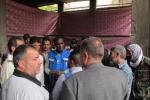 تقرير الوضع في اليرموك من الاونروا