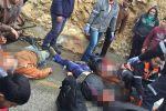 مصرع مواطن و 14 إصابة بينها خطيرة في حادث سير مروع على حاجز الكونتينر