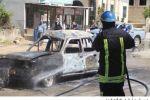 إحتراق مركبة في بلدة دير أبو ضعيف شرق جنين