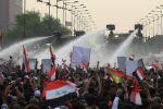 وفاة متظاهر و200 اصابة بمظاهرات في بغداد