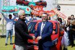 حضارة تحتفل في غزة وتسلم السيارة الثالثة للفائز على حملة ولعت جوائز