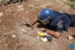 الشرطة تتلف '8' قذائف مدفعية قديمة في سلفيت