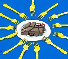 كاريكاتير اليوم'التقسيم'...أسامة نزال