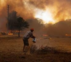 من وسط الحرائق .. جندي يطلق صرخة استغاثة تهز قلوب الجزائريين (فيديو)