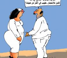 كرتون(الوضع في غزة)  -عبد الهادي شلا