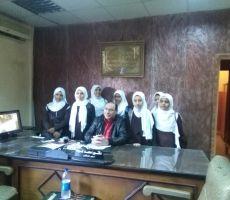 طالبات جماعة الهلال الأحمر بمستشفى البدرشين المركزي