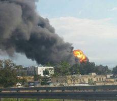 'اشدود': حريق ضخم بمصفاة وقود