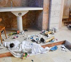 حرق كنيسة بمناسبة الاحتفال بالعام العبري الجديد