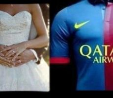 عريس يفاجئ الجميع في حفل زفافه بعد فوز برشلونة في عمان