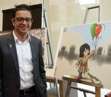 افتتاح معرض للفنان محمد سباعنة احياء ليوم الأرض
