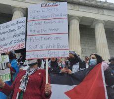 واشنطن: المئات في مظاهرة تندد بالاحتلال الإسرائيلي