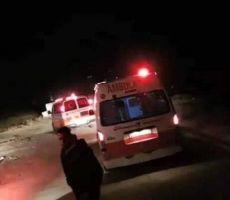 مصرع فتى واصابة 4 اخرين بحادث سير بمنطقة الفحص بالخليل