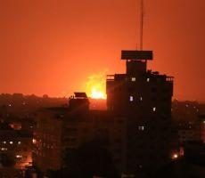 اطلاق صاروخ من قطاع غزة تجاه مستوطنات 'الغلاف' وطائرات الاحتلال تقصف صاروخين نحو موقع فلسطين التابع لكتائب القسام