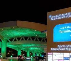 الأمطار تغرق مطار الملك خالد في الرياض