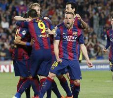 ثنائية نيمار تقود برشلونة الى التأهل للدور نصف النهائي على حساب سان جيرمان