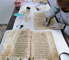 المشاريع المرشحة لجائزة إيكروم الشارقة:  إسعاف التراث الوثائقي في مكتبة المسجد العمري الكبير في فلسطين -  إعادة إحياء المخطوطات التي عبث بها الزمان