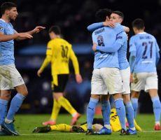 دوري أبطال أوروبا: مانشستر سيتي يخرج بفوز قاتل 2-1 على دورتموند في ذهاب ربع النهائي