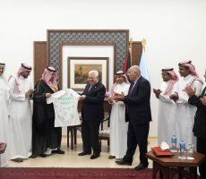 الرئيس الفلسطيني للمنتخب السعودي: زيارتكم تجسد العلاقة التاريخية بين البلدين