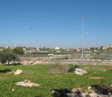 مقبرة للمستوطنين على اراضي قلقيلية