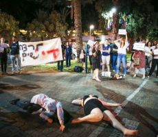 عندما_يقتلونني.. احتجاج نسائي في الشبكة الإسرائيلية