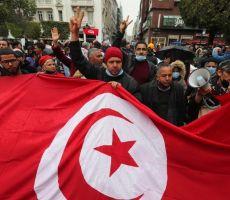 مسيرة في تونس تطالب بحل البرلمان